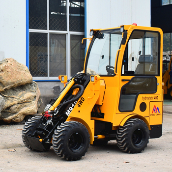Rough terrain all wheel drive 1.2 ton load capacity mini articulated loader