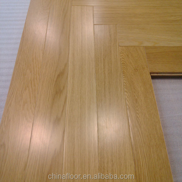 Natural color A Grade herringbone design Oak engineered wood flooring
