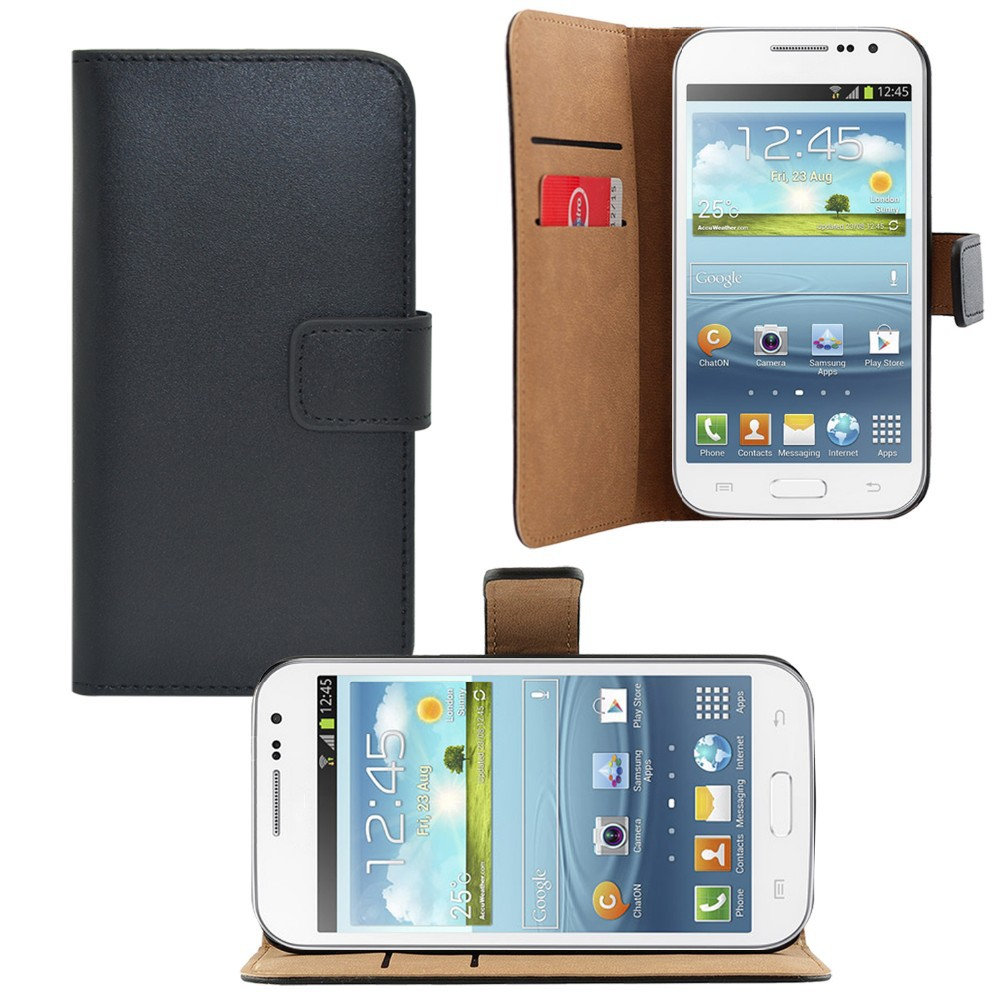 Wholesale High Quality Stand Wallet Flip Leather Case for samsung galaxy win 2---Laudtec