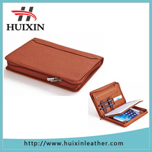 Professional leather organizer pad folio for iPad mini 3 iPad mini 2 iPad mini