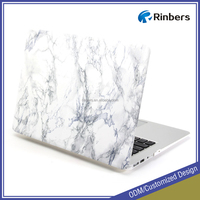 White Marble Pattern Rubber Coated Hard Case Print Frosted for MacBook Air 11 Inch A1370 A1465
