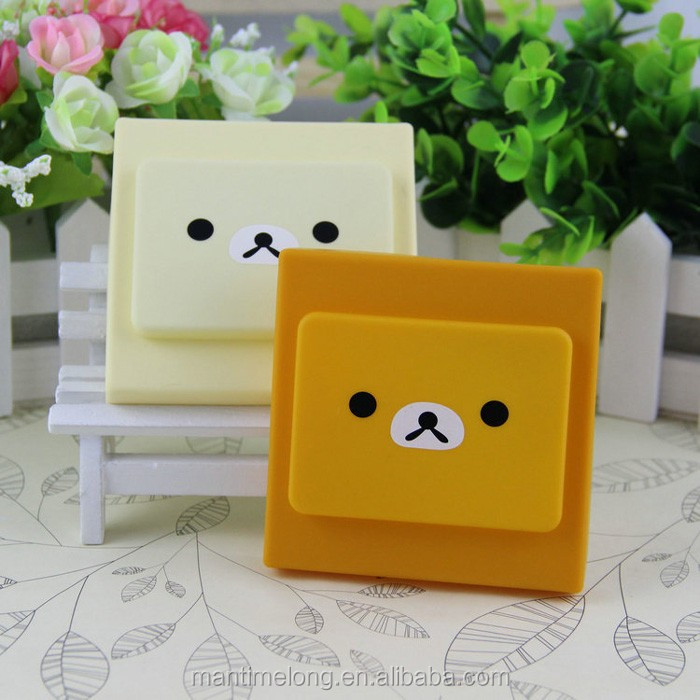 bear cartoon soft silicone light switch cover waterproof light switch cover push button switch protective cover