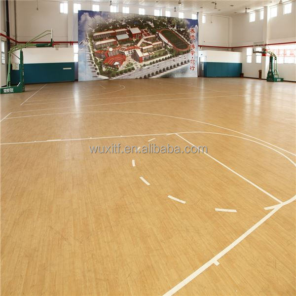 Best Price easy to clean wooden pattern indoor pvc basketball flooring