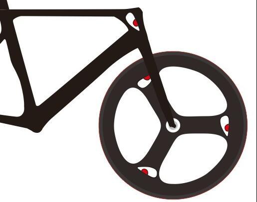 HOT sale cute Shark Eyes mountain bike wheel wheelset stickers fixed ...
