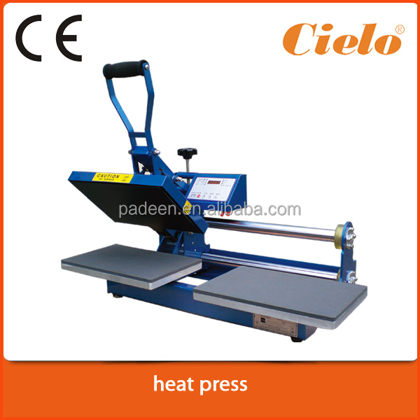 Used clothes Shaking Head Manual Heat Transfer Press Machine