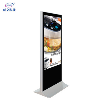 43 inch indoor floor stand lcd display ad display screen USB ad player digital signage