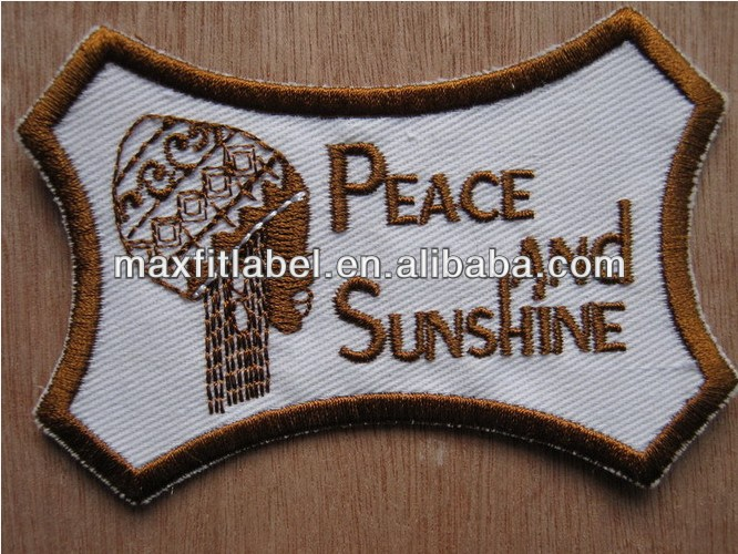 High Quality China Factory Broderie, Letter Embroidery Patch, Custom Patches
