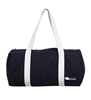 Large capacity black barrel canvas travel bag