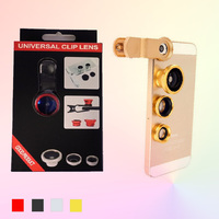 Plastic Material 3 in 1 Lens For iphone 5 Samsung,Wide Angle +Macro+Fish Eye lens,Mobile Phone Lens With Universal Clip