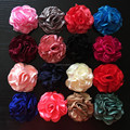 3'' Satin Burned Rolled Rosette Flower 3'' Satin Hair Flower IN STOCK