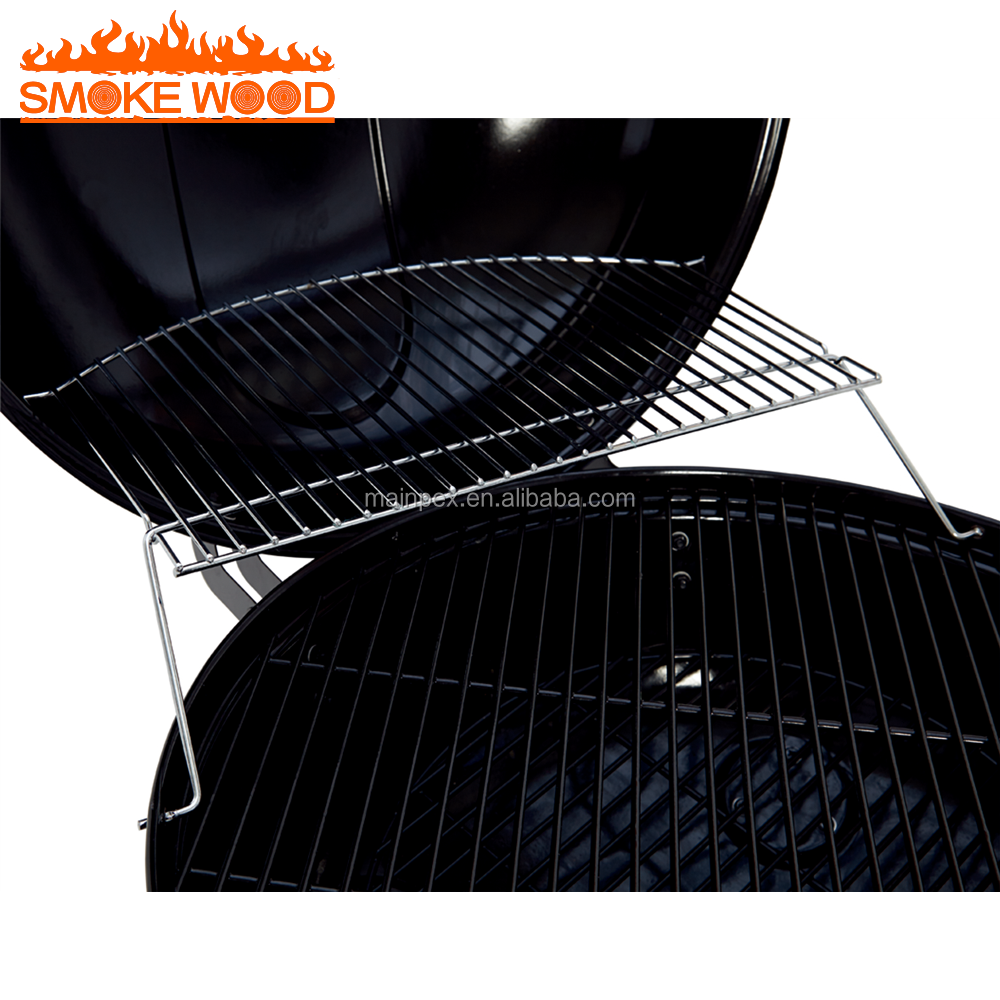 2017 Nouveau Design Assemblé Ronde Bouilloire Portable barbecue Charbon barbecue Grill avec panier de rangement