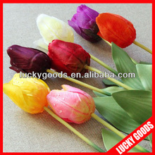 colorful single stem artificial tulip for inner or outdoor decoration