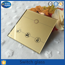 2016 cnc custom remote clear switch transparent touch glass for panels