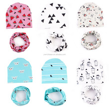 Fashion baby cotton hat and scarf set knitted hat cap hats and scarf set FH-241