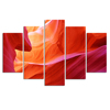 Abstract Group Canvas Print/Antelope Canyon Canvas Art/5 Panel Wall Hanging Art