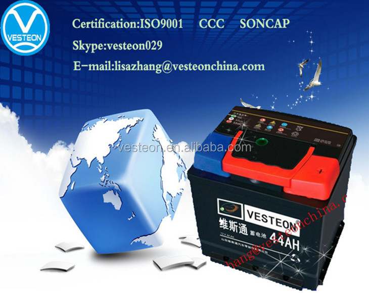 12v MF and DC OEM car battery truck battery 32ah-220ah