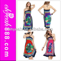Factory directly 4 colors stock sexy women beach wear one piece ethnic summer dress