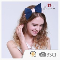 Popular Item Custom Cotton Large knotted Bow Hair Bands For Women