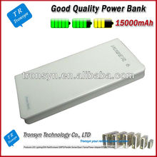 Hot selling 15000mah mobile phone best quality power bank Supports charging of iPhone, iPod , Samsung, HTC and Nokia