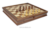 High quality wooden chess table set with chess pieces