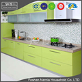 high gloss wood chinese kitchen cabinet furniture with pvc kitchen cabinet door