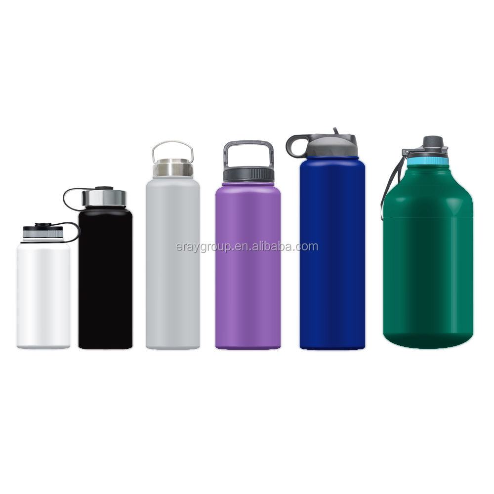 Eray14 18 22 32 40 64 oz wholesale double wall vacuum insulated stainless steel hydro flask