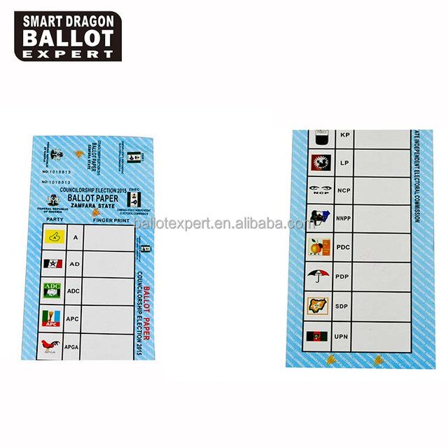 Full Color Printing Ballot Paper and Vote Ticket with Election Serial Number