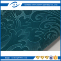 New fashion bonded plush fabric 3d velvet upholstery fabric embossed floral sofa fabric