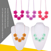 Chewable Silicone Teething Necklace Wholesale/Silicone Teething Jewlery Manufacturer