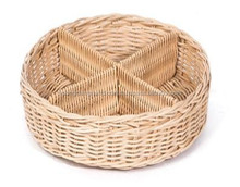 eco friendly rattan basket with compartment for serving candy and confectionery
