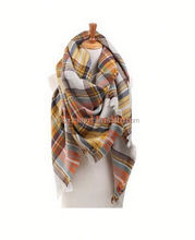 Hot Pashmina Lady Beautiful Warm Fashion Wool Blend Blanket Oversized Tartan Scarf Wrap Shawl Plaid