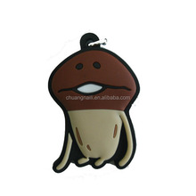 Wholesale cheap pvc custom rubber keychain