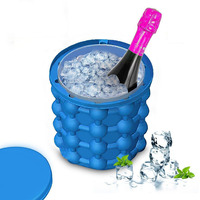 2018 New Space Saving Ice Cubes Maker Kitchen Tools ,The Silicone Ice Bucket
