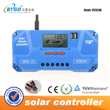 10/20/30/40A USB Solar Panel Battery Regulator Charge Intelligent Controller 12/24V