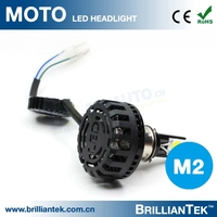 Motorcycle Accessories H4 H7 Ph6 Ph8 Led Cob 24w 2000lm Custom Motorcycle Headlight 12v