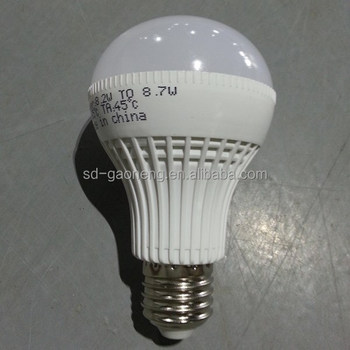 low consumption indoor lighting white long life eropean style 9W LED bulb with PC plasitc