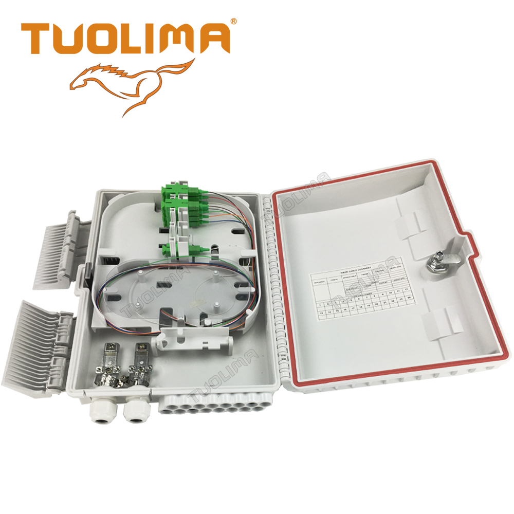 Tuolima ftth fiber optic 6 port termination box