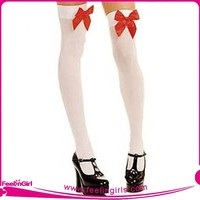 Wholesale 2015 White Fashion Tube Nylon Stocking