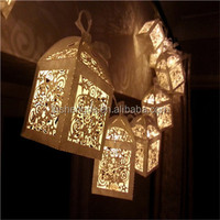 Magical lantern fairy lights, cream, ivory, perfect Christmas or wedding decoration. Battery 10 LED