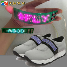 Hot selling Magic Flashing Shoes LED Strip Light mini bluetooth flexiable led message board for shoes hat clothes