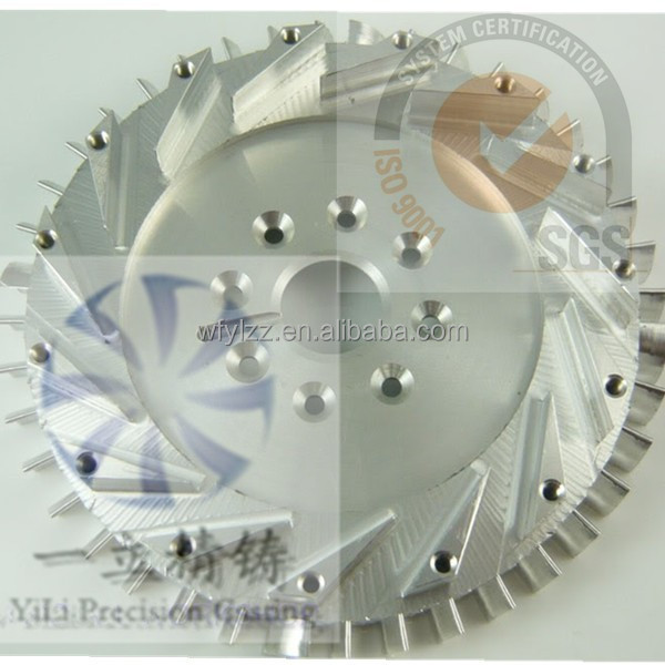 high precision stainless steel castings diffuser used for aircraft jet engine parts