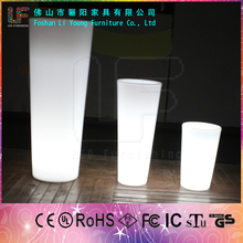 Hot sale high tech garden Led Illuminate Glowing Planter Pot outdoor led pot lights garden illuminated plastic flower vase