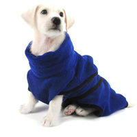 China Factory new design super soft wear microfibre dog bathrobe Water Absorbed Bathrobe Pet Soft Bathing Clothes