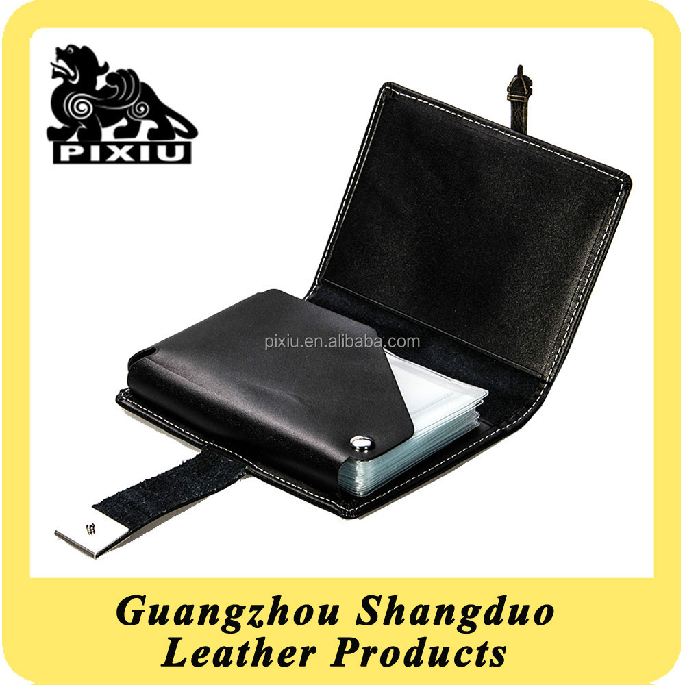 Branded Supplier Custom Leather Rotatable Plastic Card Case