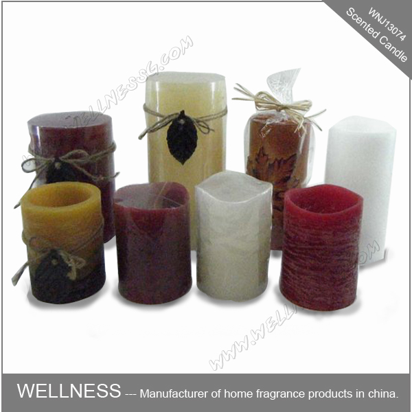 electric scented pillar led candles in multi-color and sizes