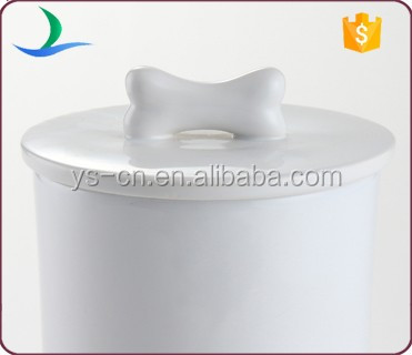 Cylinder Ceramic Airtight Pet Storage Canister With Lid For Dog Buy Pet Storage Canister Pet