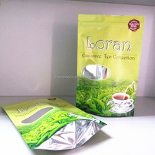matte foil bag aluminum foil tea packaging bags zipper bag for tea