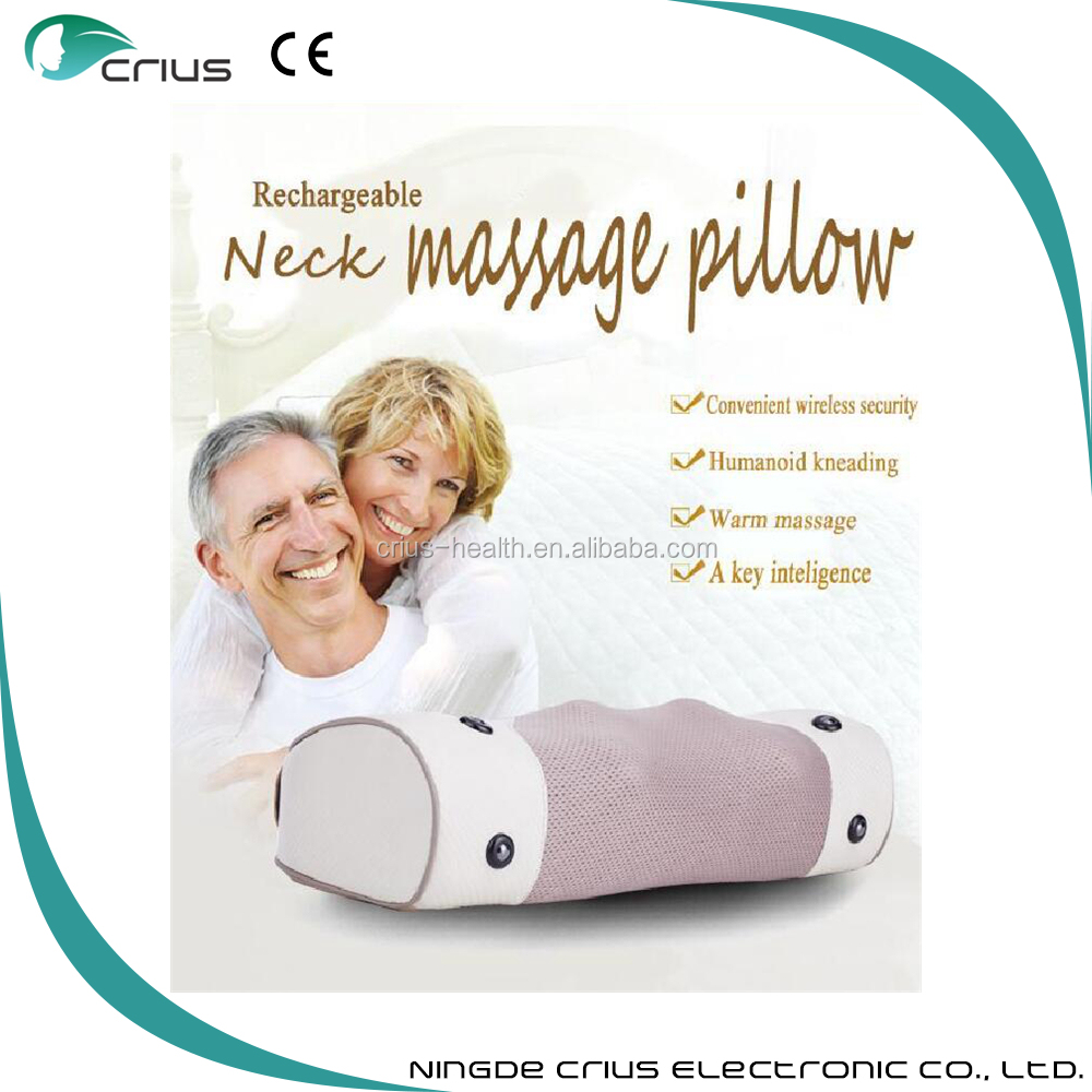 high quality vibration massage pillow with heating ball