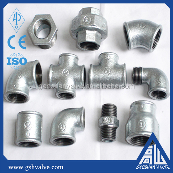 Malleable iron pipe fitting bushing cap coupling elbow nipple plug tee flange
