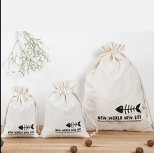 Customized High Quality Reusable Small Drawstring Cotton Muslin Bag